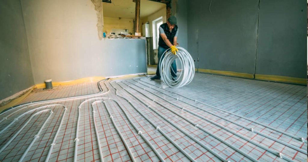 Instalación y ahorro con la instalación de suelo radiante